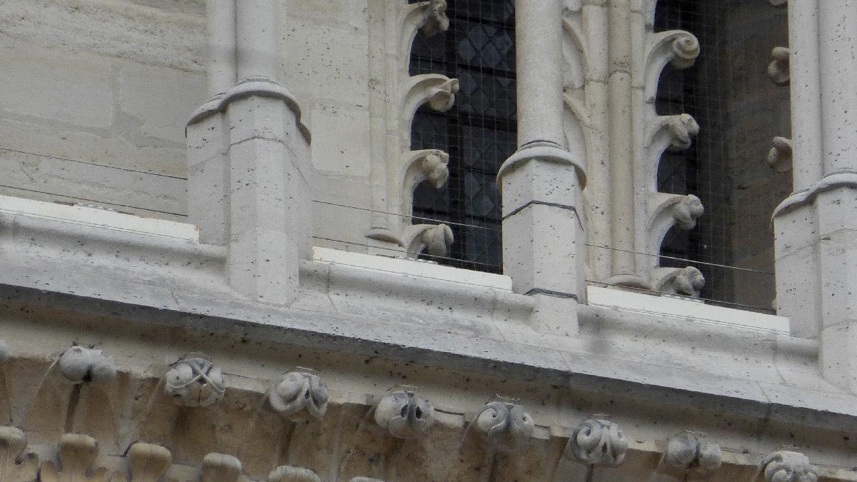 Cathédrale Notre-Dame de Paris, France - détail façade occidentale jour
