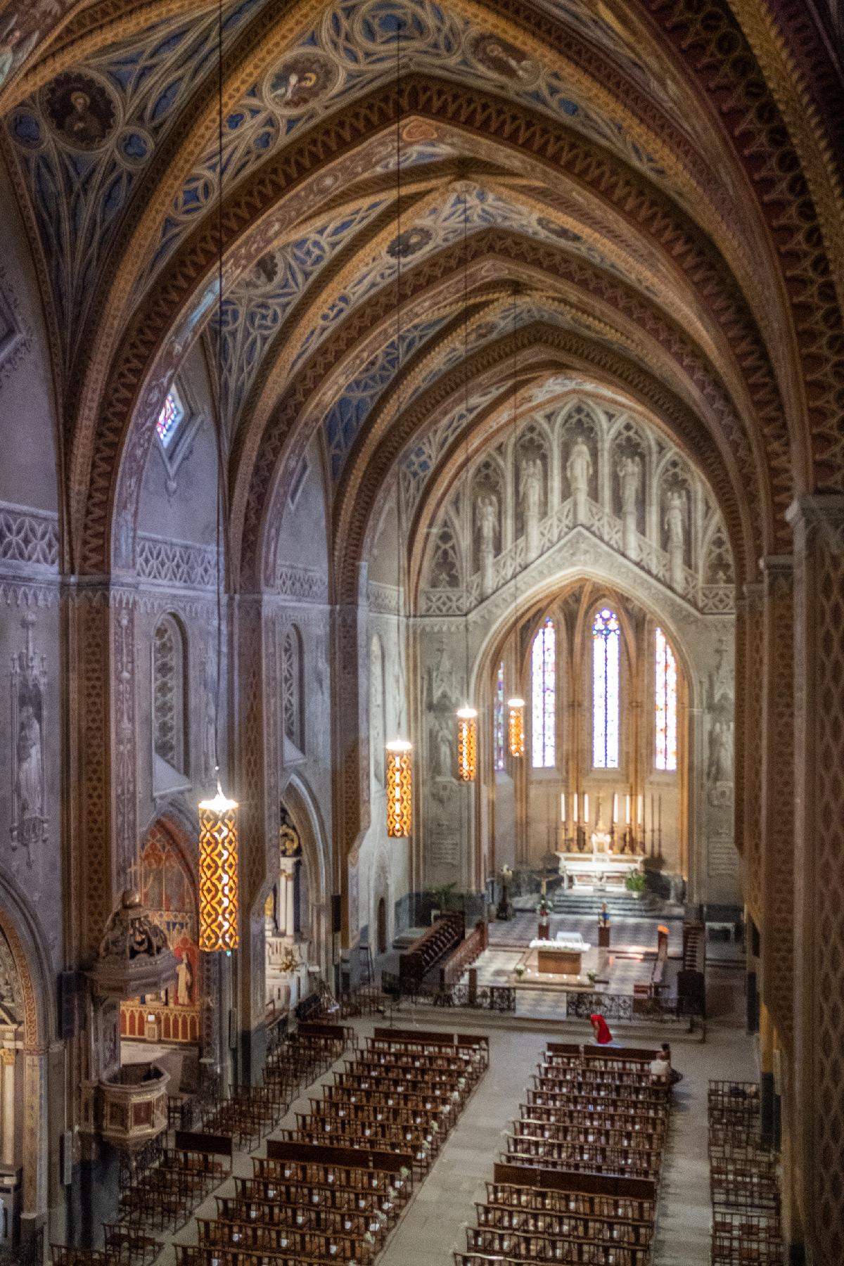 Cathédrale Saint-Alain de Lavaur, Tarn, France - Lustres sur mesure - Concepteur lumière : Quartiers Lumières © Maelis Manufacture de France