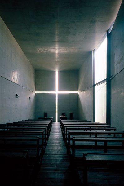 Eglise de la lumière, Ibaraki, Osaka, Japon, architecture de Tadao Ando