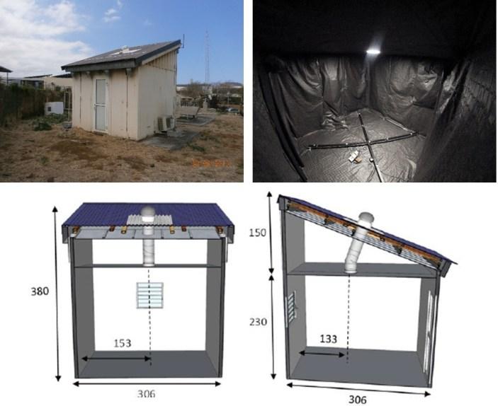 Cellule instrumentée, dimensionnée pour l'étude d'un conduit de lumière (Light pipe) © laboratoire PIMENT