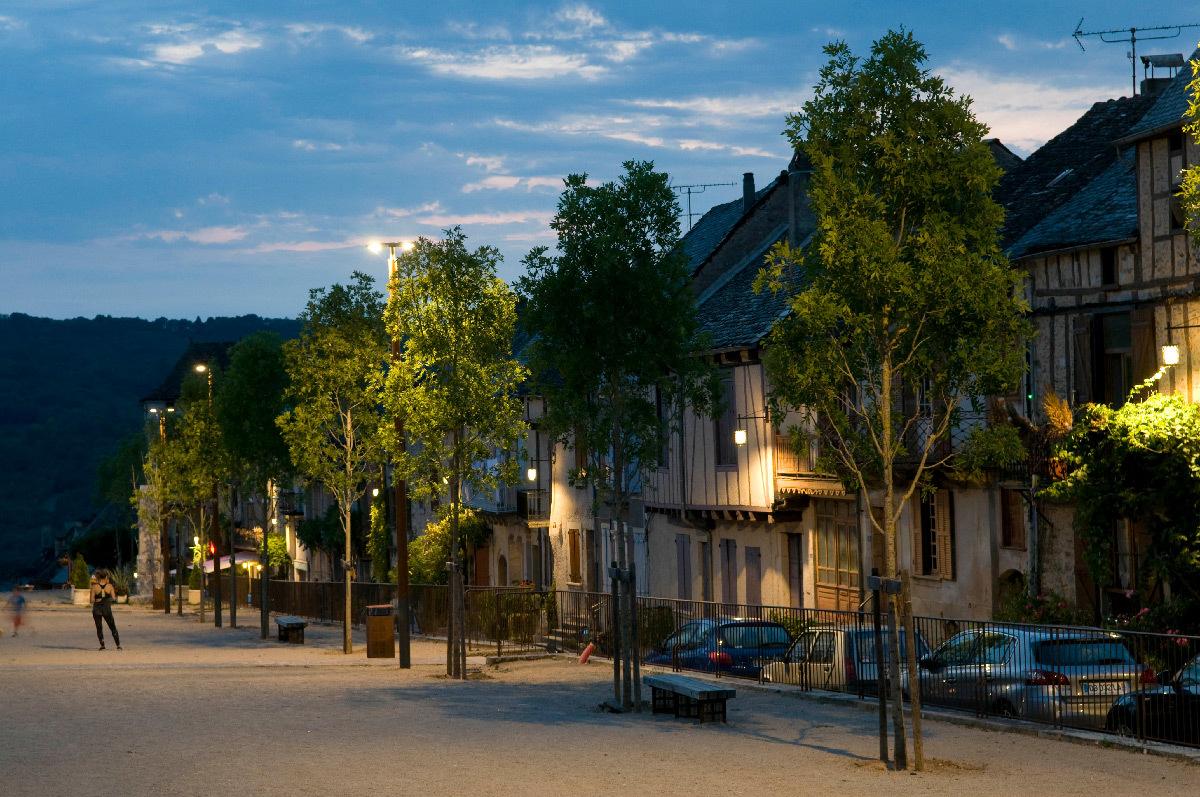 Éclairage public - Cœur de village de Najac, Aveyron