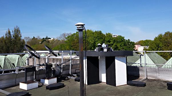 Plateforme de mesure du climat lumineux sur le toit du CSTB