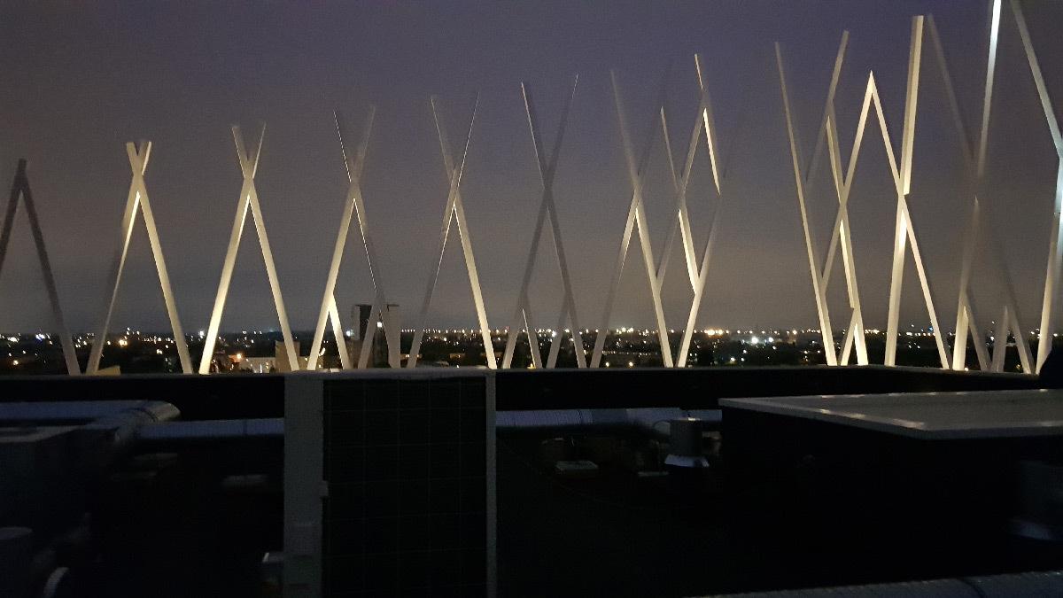 La Pépite, illumination solaire dynamique - Conceptrice lumière : Noctiluca