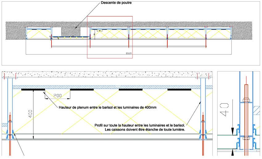 Fondation Carmignac, plafond lumineux - Concepteur lumière : Les éclaireurs