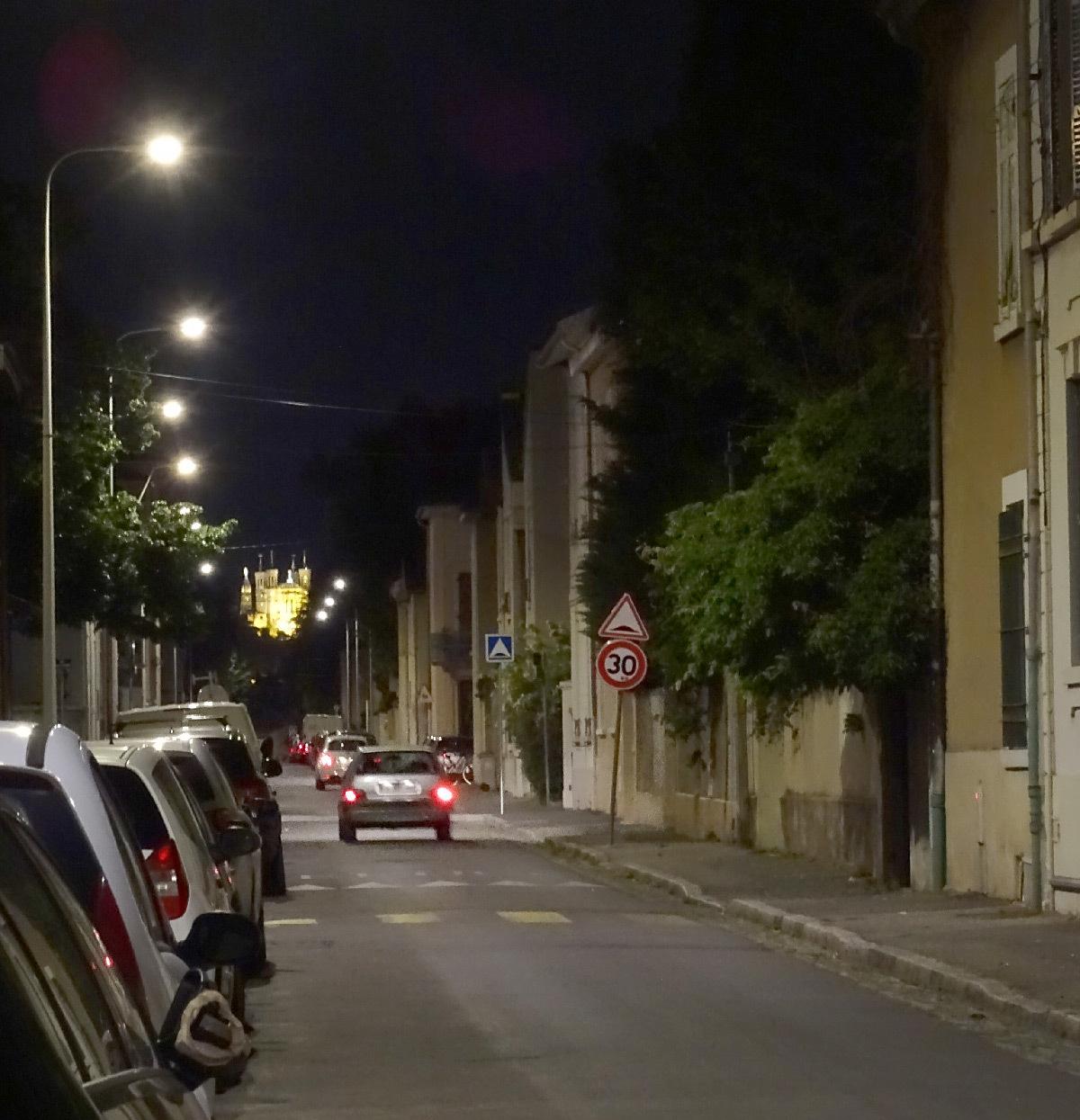 Eclairage urbain du quartier Monchat de Lyon
