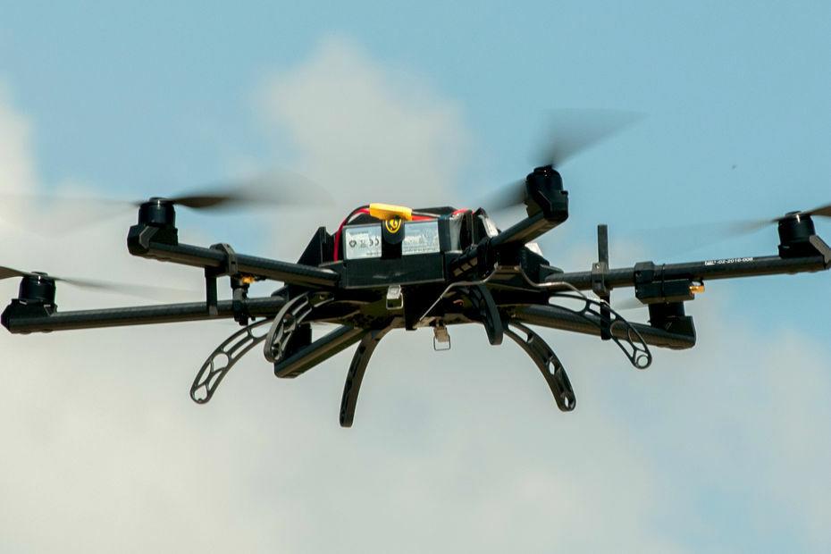 Neopter, drone pour le spectacle de la Cinescenie du Puy du Fou, Vendee, France © Puy du Fou