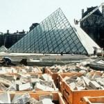 Pyramide du Louvre en construction, Paris, France - mars 1988 © Musée du Louvre (fonds EPGL), Patrice Astier