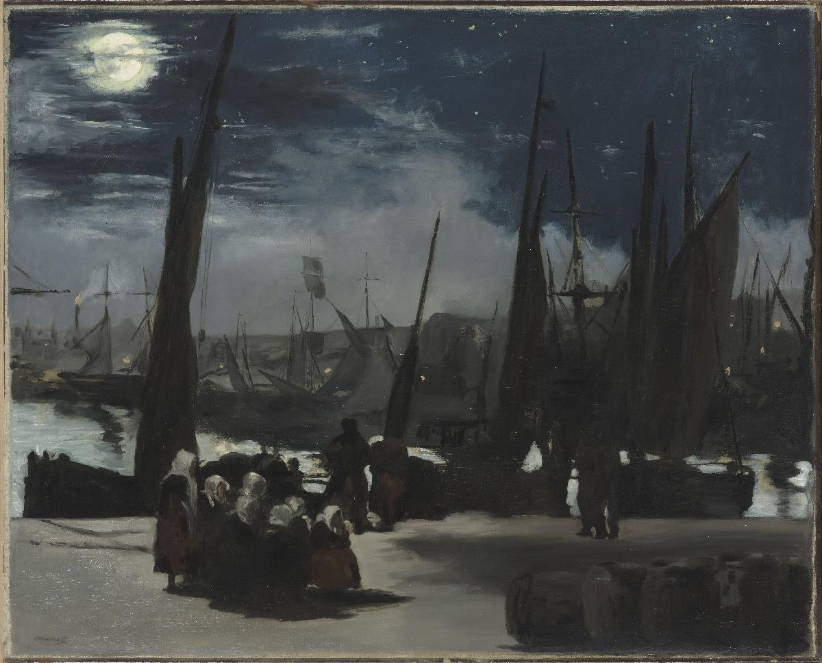 Edouard Manet, Clair de Lune sur le port de Boulogne, huile sur toile, 1869