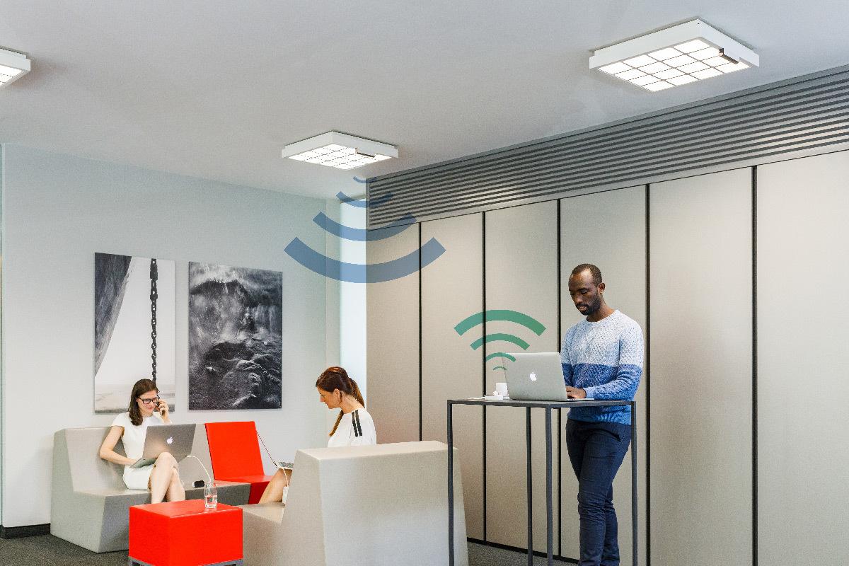 Salle de réunion, Claerhout Communication Campus, Gand, Belgique - Trulifi © Signify