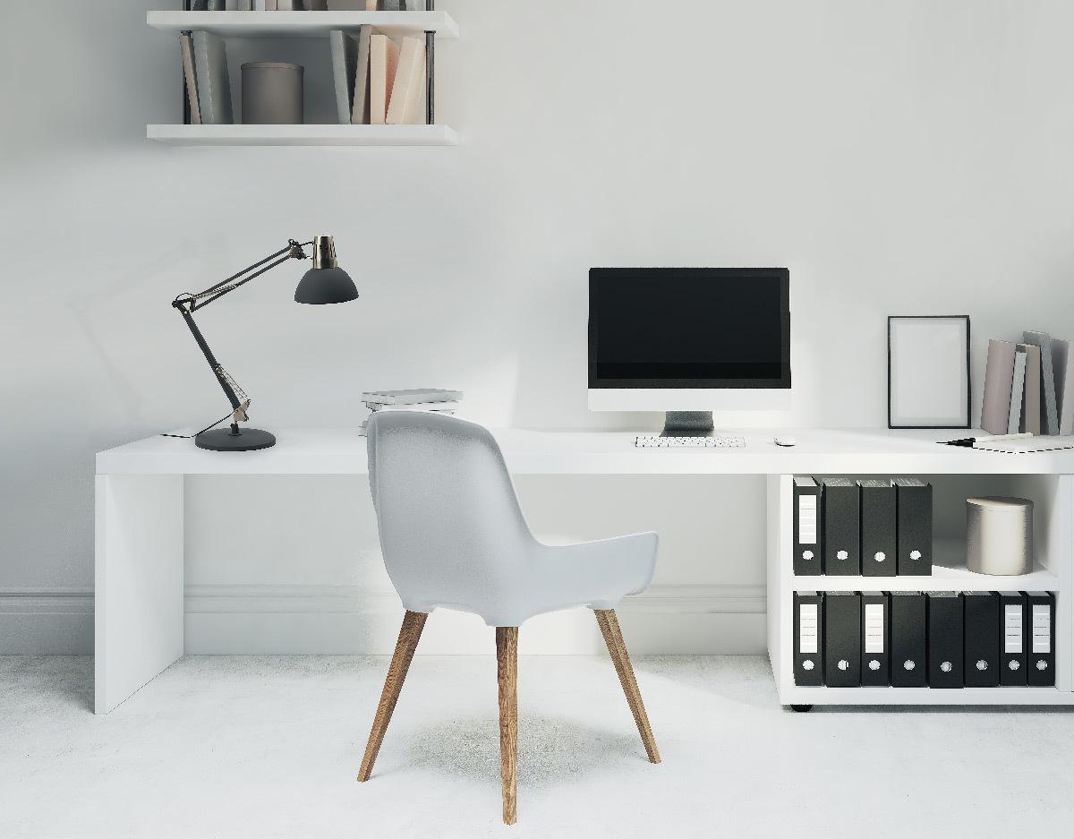 Calypsa noir, lampe de table en situation © Aluminor