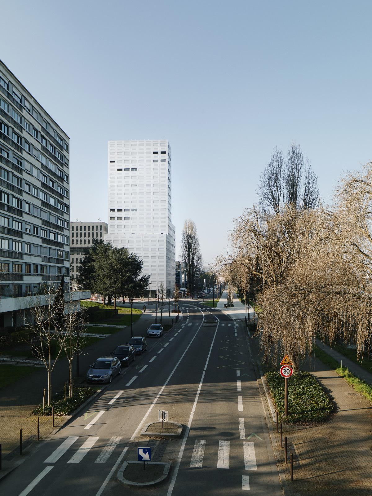 Boulevard Gaston Doumergue, tour 360 View, Polaris, Île de Nantes, France - LAN Architecture - Kaufman & Broad © Cyrille Weiner