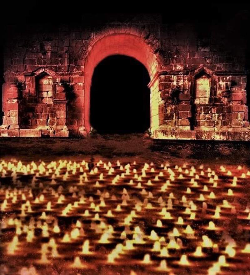 Simulation lumière, arc de Caracalla, Volubilis, Maroc - Tifawine Light Contest, Illuminate, équipe 11 © Mehdi Chawki et Naoual Basma Koudia