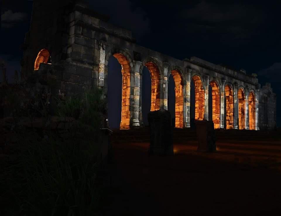 Simulation lumière, basilique, Volubilis, Maroc - Tifawine Light Contest, Illuminate, équipe 11 © Mehdi Chawki et Naoual Basma Koudia