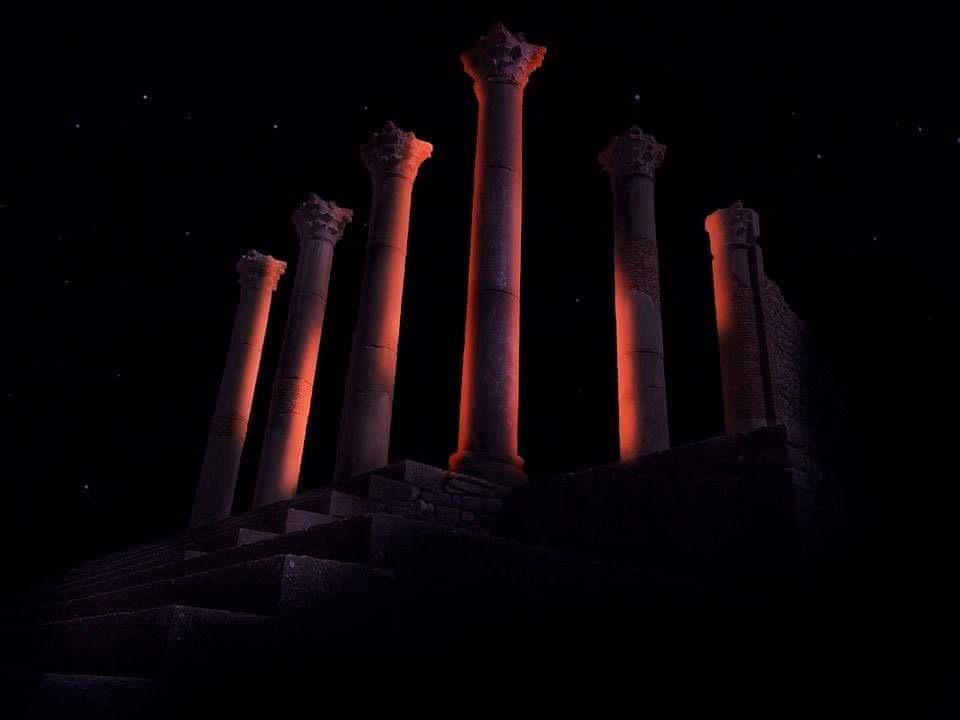 Simulation lumière, capitole, Volubilis, Maroc - Tifawine Light Contest, Illuminate, équipe 11 © Mehdi Chawki et Naoual Basma Koudia