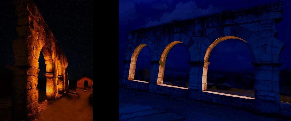 Simulation lumière, dodecamus maximus, Volubilis, Maroc - Tifawine Light Contest, Illuminate, équipe 11 © Mehdi Chawki et Naoual Basma Koudia