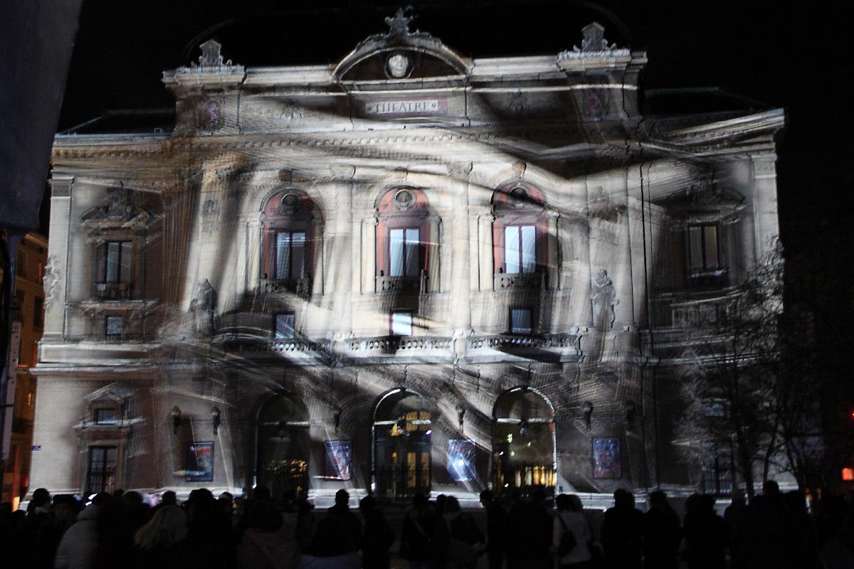 Perspectives Lyriques, théâtre des Célestins, Lyon - 1024 Architecture - Fête des lumières 2010 © Vincent Laganier
