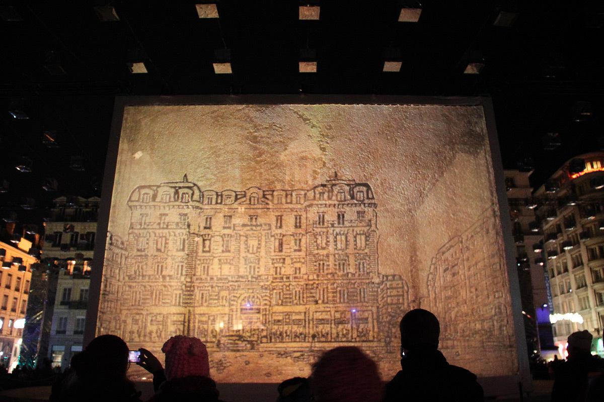 Show Case, place des Jacobins, Lyon - Éclairagistes : direction Eclairage Public ville de Lyon - Fête des lumières 2013 © Vincent Laganier