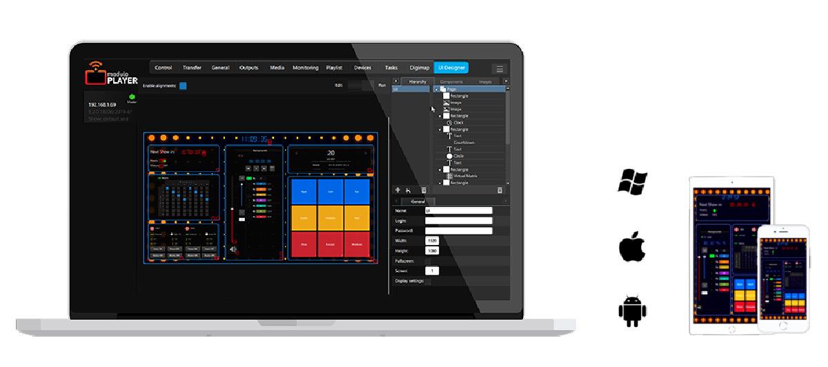 Modulo Player - UIDesigner © Modulo Pi