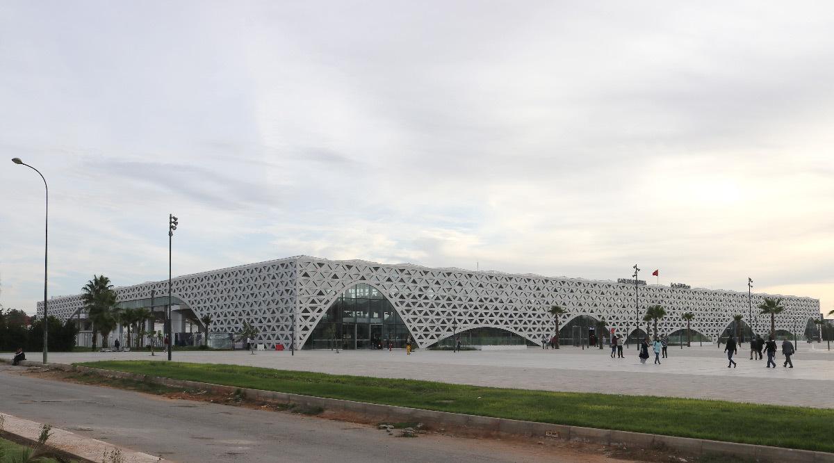 Vue d'ensemble, gare de Kénitra, Maroc - Architectes : OKA, SDA