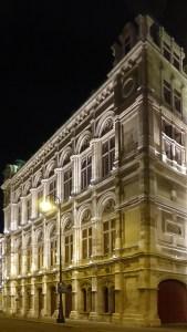 Wiener Staatsoper, éclairage architectural, façade, Opéra d'État, Vienne, Autriche