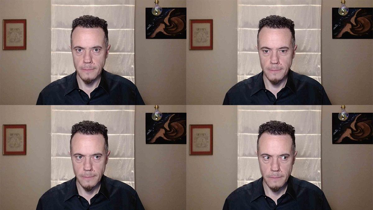 Webinaire, éclairage et regard du visage devant une webcam