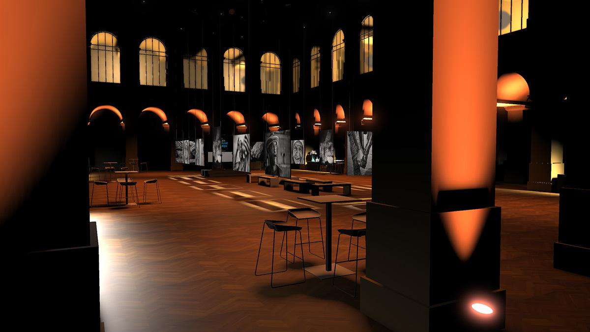 Visualiseur 3D en eclairage muséographique