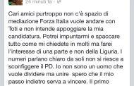 Elezioni Liguria - Rixi fa un passo indietro. Toti candidato presidente