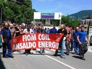 Corteo Ansaldo Energia blocca Genova Ovest