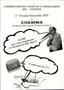 manifestino contro Luigi Merlo a Voltri