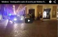 Modena - Polemiche per il corteo di auto di scorta per Matteo Renzi VIDEO