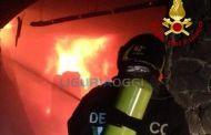 Rapallo, incendio distrugge una baracca