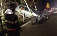 Bogliasco, perde il controllo dell'auto e finisce fuori strada: illesa