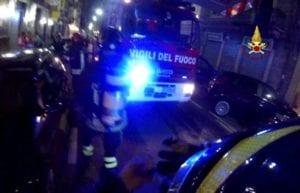 incendio in via Guidobona