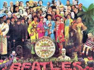 La copertina di Sgt. Pepper's Lonely Hearts Club Band dei Beatles