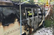 Savona – Camper in fiamme a Stella