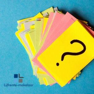 Lijfrente, veel gestelde vragen