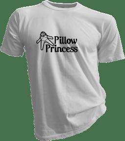 pillow princess tshirt like i give a