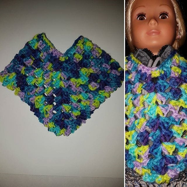 Crochet Doll Poncho Set , Crochet Doll Patterns, Doll clothes   640x640