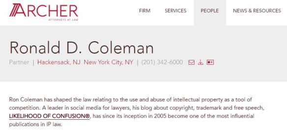 Lawyer Ronald Coleman