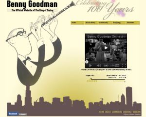 Benny Goodman website thumbnail
