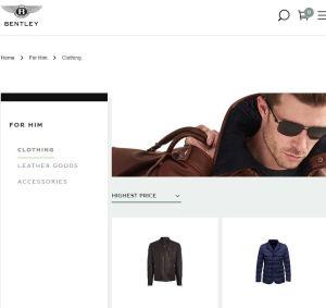 Bentley Clothing