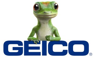 Geico logo with gecko
