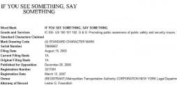 If You See Something Say Something TM