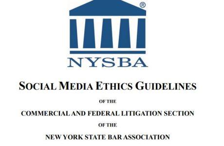 NYSBA Social Media Ethics Guidelines 2019