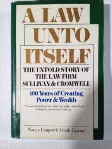 Sullivan and Cromwell book
