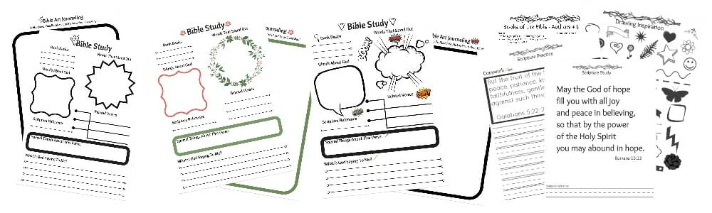 FREE eCourse Tween Spiritual Growth - Intro to Inductive Bible Study + Bible Art Journaling
