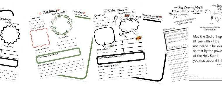 FREE eCourse Tween Spiritual Growth – Intro to Inductive Bible Study + Bible Art Journaling