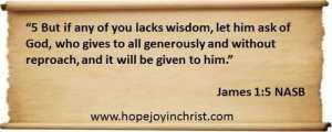 James 1 5 Pray for Wisdom