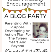 Tween Parenting Blog Party Featured Author Krystal McFalls Like Minded Musings