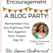 Tween Parenting Blog Party Featured Author Teri Lynne Underwood Like Minded Musings